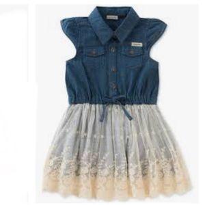 Calvin Klein Denim and Lace Dress 4T